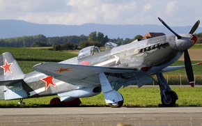 Wallpaper Yakovlev, YAK-3U, Soviet, fighter, single-engine