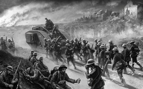 Picture art, watercolor, soldiers, pencil, painting, the British, gouache, WWI, the first world war, wallpaper., the …