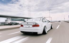 Picture Auto, Road, White, BMW, Machine, BMW, Car, E46, BMW M3, Highway, German, BMW E46, BMW …