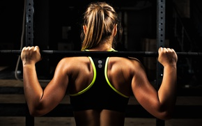 Picture back, workout, fitness, gym