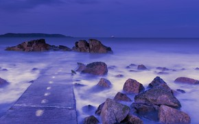 Wallpaper Purple, Forty, Foot, Hour, Blue, Sea