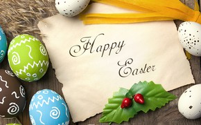 Picture colorful, Easter, wood, spring, Easter, eggs, decoration, Happy, the painted eggs