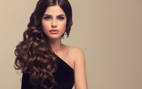 Picture look, girl, model, makeup, hairstyle, earrings, photoshoot