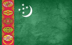 Picture green, ornament, Turkmenistan, Baydak, welayat, flag save, Turkmenistan flag