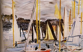 Picture 1935, Huile sur Toile, Raoul Dufy, The Basin of Deauville, The Basin of Deauville, Collection …