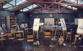Wallpaper workshop, Studio, final render, Art CLass