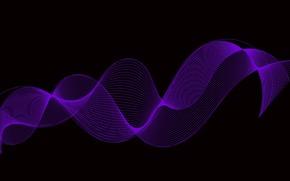 Wallpaper background, black, purple twirl