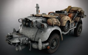 Wallpaper transport, SCI-FI WW2 Jeeps, equipment