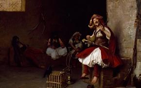 Picture picture, genre, Jean-Leon Gerome, Singing Bashi-Buzuk