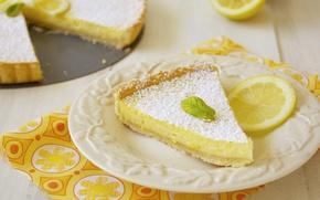 Picture lemon, pie, dessert