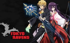 Picture anime, asian, manga, japanese, oriental, asiatic, sugoi, bishojo, miko, Tokyo Ravens, mahou, Harutora Tsuchimikado