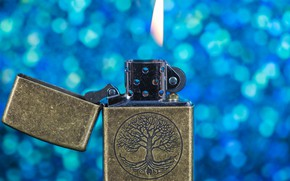 Picture macro, flame, Zippo, lighter