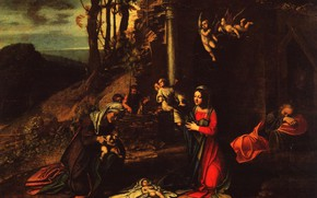 Picture Antonio Allegri Correggio, and the sleeping Joseph, The Birth Of Christ, with STS Elizabeth and …
