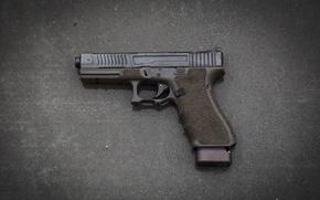 Wallpaper gun, background, self-loading, Glock