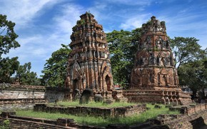 Picture Thailand, temple, ruins, Ayutthaya