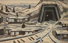Picture 1920, Charles Ephraim Burchfield, Coal Mine, End of the Day