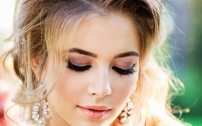 Picture girl, makeup, hairstyle