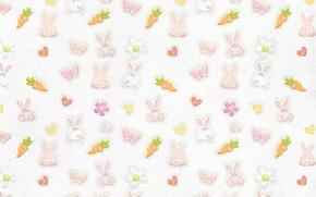 Wallpaper butterfly, background, Wallpaper, texture, carrot, rabbit, rabbits, children's