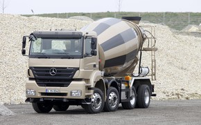 Picture stones, Mercedes-Benz, crushed stone, breed, four-axle, concrete mixer, Axor