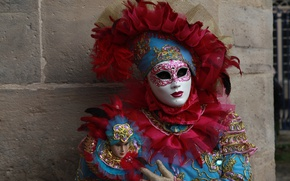 Picture feathers, mask, costume, carnival
