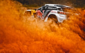Picture Sand, Auto, Dust, Sport, Machine, Speed, Race, Skid, Peugeot, Red Bull, Rally, Dakar, Dakar, SUV, …