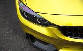 Picture BMW, Carbon, Yellow, Gold, F82, Sight
