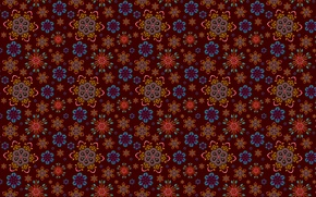 Picture snowflakes, pattern, brown, ornament