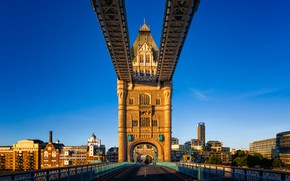 Picture the sky, the sun, bridge, England, London, home, Tower Bridge