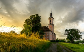 Picture Germany, Church, Germany, Baden-Wurttemberg, Birnau, Maurach