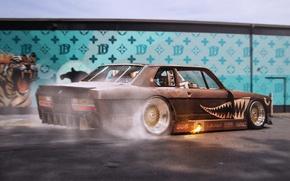 Picture Burnout, BMW, Car, BBS, Wheels, Rear