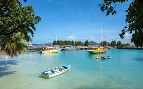 Picture Marina, port, Seychelles, The-Dike