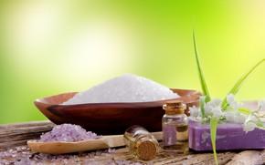 Picture oil, soap, Spa, sea salt