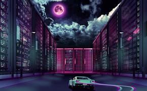 Picture Music, The moon, Neon, Machine, Ferrari, GTO, 288, Synthpop, Darkwave, Synth, Retrowave, Synthwave, Ferrari 288, …