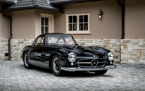 Wallpaper 300SL, Mercedes, Black