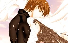 Picture girl, romance, anime, art, guy