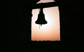 Picture sunset, background, bell