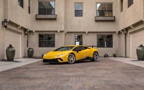 Picture Lamborghini, Yellow, VAG, Performante, Huracan