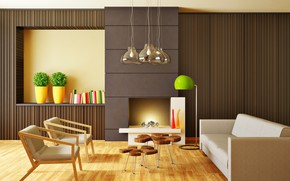 Wallpaper furniture, interior, living room, room, interior, Modern, stylish
