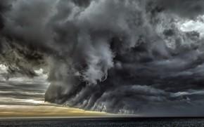 Picture sea, clouds, nature