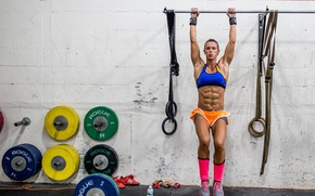 Wallpaper abs, workout, Female, sportswear, crossfit