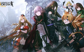Picture weapons, girls, anime, Girls Frontline, Girls front