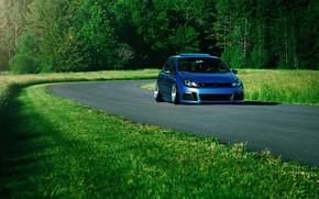 Picture Volkswagen, Car, Grass, Green, Golf, Stance