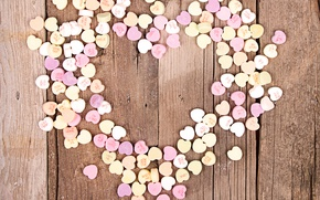 Picture hearts, love, wood, romantic, hearts, sweet, valentine's day