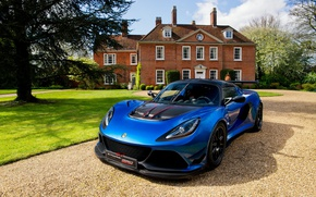 Picture car, Lotus, house, garden, vegetation, Lotus Exige, Lotus Exige Cup 380, Lotus Exige Cup