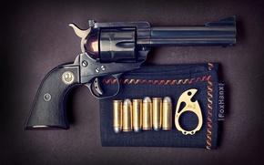 Picture cartridges, revolver, Ruger