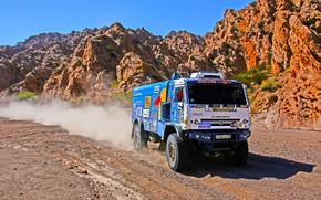 Picture Grass, Rocks, Sport, Speed, Race, Master, Dirt, Day, Squirt, Russia, Heat, Kamaz, Rally, Dakar, Dakar, …