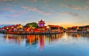 Picture Home, River, China, Landscape