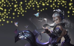 Picture butterfly, magic, the game, anime, art, guy
