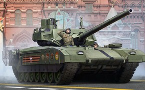 Picture parade, red square, main battle tank, Armata, T-14, the draft of the new Russian main …