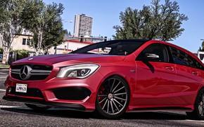 Picture Mercedes Benz, GTA, Grand Theft Auto V, CLA 45 AMG